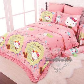 通販部-HELLO KITTY粉色鄉村雙人床罩被單枕頭套組341878