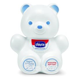 義大利CHICCO 嬰兒潤膚泡泡浴露300ML-熊型(溫和不流淚配方)