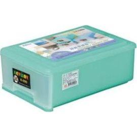 聯府 抽屜整理箱 K090 K0090 淡綠色透明 單層 1層^(塑膠^) ^(置物箱 置