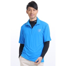 MEGA抗UV全效冰感 翻領短袖POLO衫~寶藍色