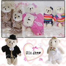 【winshop】手工編製婚禮熊/情侶熊娃娃鑰匙圈(一對),不論是結婚新人或者熱戀中的情侶,情人心目中的最佳禮物,心意百分百唷。