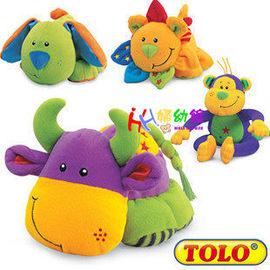 嬰兒玩具TOLO布偶優質玩具 帶BB器 捏肚子會BIBI響【HH婦幼館】
