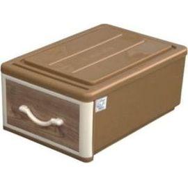 聯府 M橡木抽屜整理箱 WJ05 WJ~05 米黃棕色 單層 1層^(塑膠^) ^(置物箱