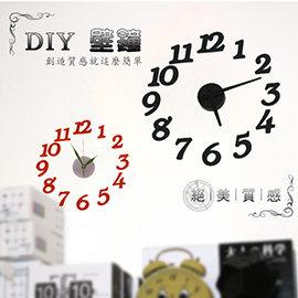 【winshop】B0493 超時尚歐風DIY壁鐘/時鐘,簡易安裝隨手黏貼就很時尚~!辦公室、居家最好用的裝飾品