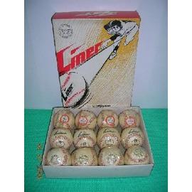^~古董收藏品^~  棒球 MIZUNO LINER 少年用^(硬式^)  1個