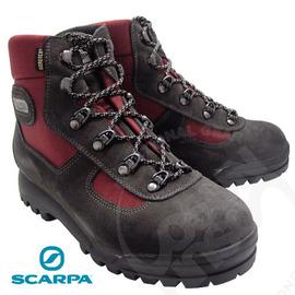 【義大利 SCARPA】熱賣款 Lite Trek Gore Tex 寬楦高筒登山鞋(非環保鞋底不水解_Vibram黃金鞋底)/防水透氣/ 耐磨/暗紅 60023G