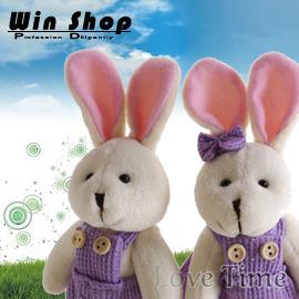 【winshop】手工編製婚禮兔/情侶兔娃娃鑰匙圈,超優質生日禮物、婚禮小物、情人節最佳禮物,甜蜜滿分
