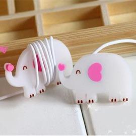 可愛大象集線器◇/可愛大象繞線器收線器/耳機集線器/捲線器