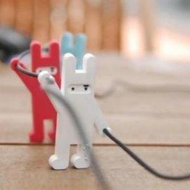 韓國忍者兔捲線器/KUSO 忍者兔 耳機線 收納 集線器◇/造型集線器/收線器/韓版忍者兔MP3耳機捲線器/Jstory忍者兔繞線器 耳機集線器纏線器