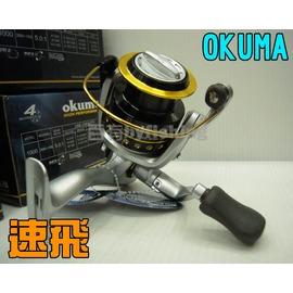 ◎百有釣具◎OKUMA SAFINA PRO 速飛 捲線器 3+1培林 SPA-4000型~買再送