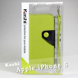 【Kashi卡仕】Apple iPhone 5/5S/SE 牙籤紋側掀套附拉帶皮套/翻頁式皮夾皮套/筆記本式手拿包