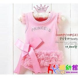 【HH婦幼館】 2011新款 水鑽紗裙粉紅芭蕾天使跳舞哈衣/連身衣 80/90/95