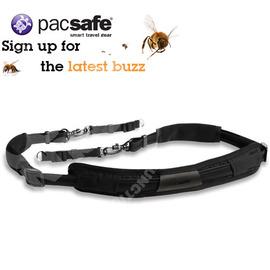 【Pacsafe】新款carrysafe 100-肩背單眼相機帶.防盜相機袋/望遠鏡背帶.背包背帶.肩帶.不鏽鋼絲.防滑防搶.可移動式 PD061BK