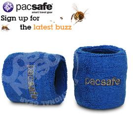 【Pacsafe】wristsafe 50 防盜運動款彈性手腕關節護套零錢包.夾鏈袋.適網球.羽球.兵乓球.排球.手球類運動保護/藍 PE021BL (非LP護具)
