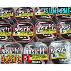 ◎百有釣具◎日本SUNLINE BASIC FC碳纖線 300米~規格2號/2.5號