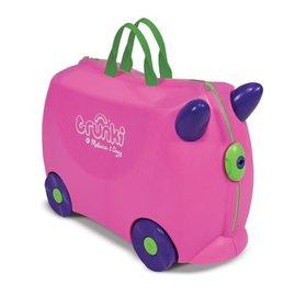 ☆淘氣生活☆美國Trunki兒童行李箱登機箱 粉紅款 美國製 附鑰匙