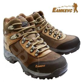 【美國 EAMKEVC】女款 E-TEX 防水透氣中筒寬楦全牛皮健行登山鞋 馬丁鞋 馬丁靴.耐磨.抓地力強 002 (非Gore-Tex)