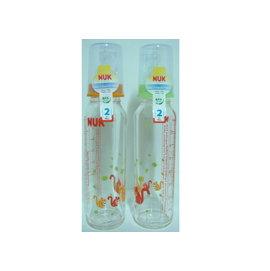 NUK 玻璃奶瓶 (230ml) 附矽膠奶嘴2號,中圓孔