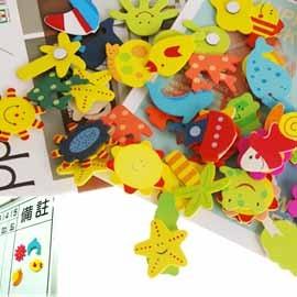 【winshop】韓國熱賣暢銷款!動物/昆蟲木質造型磁鐵(一組12入),冰箱貼/便利貼/磁鐵貼