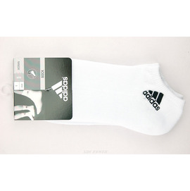 Adidas~基本款logo腳踝襪-白(V37056)