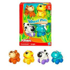 《玩具森林》[孩之寶-PLAYSKOOL-兒樂寶] 開心農場Farm(羊/雞/小豬/牛)Wheel Pals (可愛造型小車車)