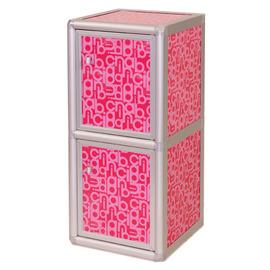 ◆方塊躲貓◆夏艷1.2尺二層格^(有門^)