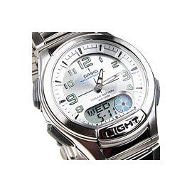 AQ~180WD~7BVDF CASIO AQ~180WD~7B•勁速雙顯 錶賽車錶─銀