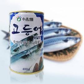 ~易購樂~韓國 鯖魚罐頭400g~1罐.可直接食用~配飯更對味~韓國 韓國食品料理