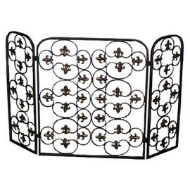 矩形壁爐網 P020-1002(擺飾品.裝飾品.庭院傢俱.庭園傢俱.鑄鐵飾品.間隔.便宜)