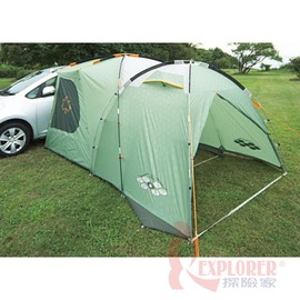 探險家露營帳篷㊣NO.71801735日本 LOGOS 綠楓一房一廳車邊帳 難燃布料 帳篷