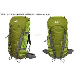 法國MILLET ODYSSEE 50+10公升 登山背包苔綠/綠 MIS16835514