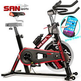 【SAN SPORTS】4倍強度18公斤飛輪健身車18KG飛輪車.腳踏車自行車公路車C165-018另售電動跑步機.磁控健身車踏步機.推薦哪裡買便宜品牌