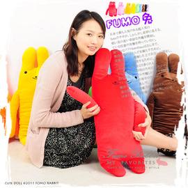 綿綿兔玩偶(中) P002-0054 (fumo娃娃.絨毛玩具.兒童遊戲.兒童用品.兒童玩偶.抱枕.午睡抱枕.午睡枕.睡覺枕.兔子)