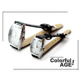 柒彩年代~NE203~范倫鐵諾方型酒桶情侶對錶