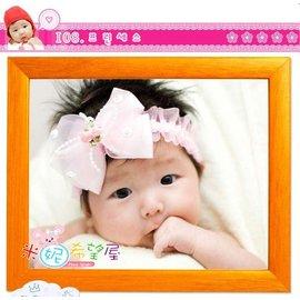 韓版超夯公主蕾絲玫瑰髮帶(F0601)粉紅/白色【HH婦幼館】