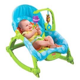 美國【Fisher-Price 費雪】可愛動物可攜式兩用安撫躺椅