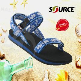 【以色列-SOURCE】《送Source置鞋袋》中性 兒童運動涼鞋/兒童涼鞋/藍色大象.防止異味.抗菌