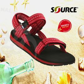 【以色列-SOURCE】《送Source置鞋袋》女童/男童 兒童運動涼鞋/紋身紅.防止異味.抗菌