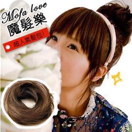 ~魔髮樂Mofalove~丸子頭 甜甜圈髮束 E ~韓系假髮髻 髮包 ! 接髮 ↘