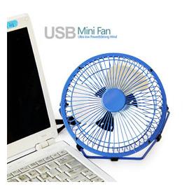 天天网USB小风扇 迷你小风扇 超静音省电小风扇 桌面小风扇 NB PC都适用 金属小风扇6吋 多色可选(140001-02)