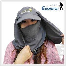【美國 EAMKEVC】戶外全方位運動休閒帽子(帽沿可折)前後可拆變棒球帽/釣魚帽/遮陽帽/三用帽/超輕 排汗 快乾 抗UV  FB-158