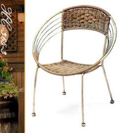 復古圓形寶貝椅 P020-HC-365-3 (休閒藤椅子.造型藤編椅.創意籐椅.餐廳椅.咖啡椅.麻將椅.客廳椅.庭園椅.傢俱家具傢具特賣會)