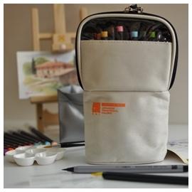 AKASHIYA SAI 彩繪毛筆 戶外寫生組 米白  20色附水彩筆.描邊筆.水袋及調色