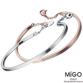 ~ SilverFly銀火蟲銀飾 ~~MiGO ~晶漾^(白  玫瑰^)對手環