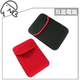 【送觸控筆+萬用清潔組】10吋雙面保護套 平板電腦保護套 10吋戎布保護套 (黑/紅) 雙面 通用型保護套 A500 EeePAD IPAD IPAD2 T100
