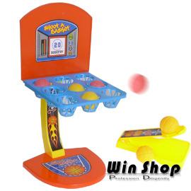【Q禮品】A0076 趣味籃球九宮格/彈跳遊戲機/籃球架/親子遊戲/投籃機,內附兩個發射台,雙人遊戲,易拆式設計、組裝方便