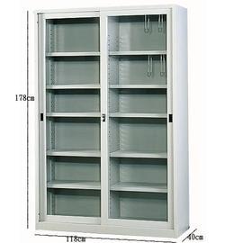 ~STYLEHOUSE~4x6玻璃拉門連座公文櫃^(有中隔^).置物櫃.收納櫃.檔案櫃^~
