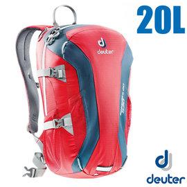 【德國 Deuter】Speed Lite 20L 輕量級透氣登山健行背包.攻頂包.自行車背包.水袋背包.休閒背包 33121 紅/深紅