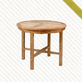 90cm柚木圓桌P020-091T(庭院桌.木桌子.原木桌.庭院傢俱.便宜)