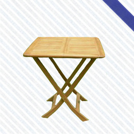 70cm柚木方折桌P020-071T(木桌子.原木桌.庭院桌.庭院傢俱.便宜)